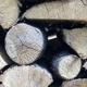 Seasoned logs.